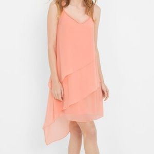 ASYMMETRIC TIERED DRESS
